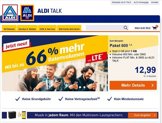 Aldi Talk Bezahlmethoden