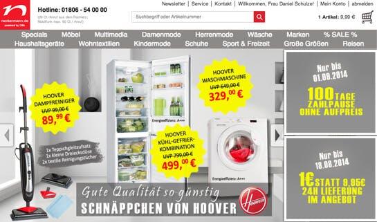 15% Neckermann Gutschein + 15€ Nur heute!