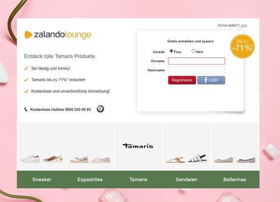 Zalando Lounge Gutscheine → 70% → Oktober 2020